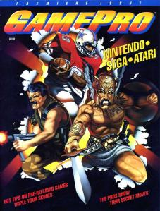 The cover of the first issue of GamePro