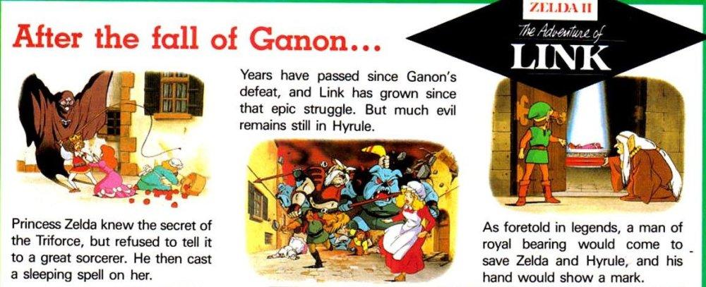 Zelda II preview art