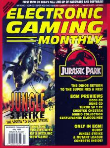 Magazine Electronic Gaming Monthly - Jungle Strike_Jurassic Park V6 #7 (of 12) (1993_7) - Page 1