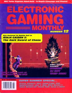 Magazine Electronic Gaming Monthly - Ninja Gaiden II - Dark Sword of Chaos V1 #12 (of 12) (1990_7) - Page 1