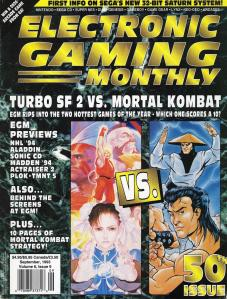 Magazine Electronic Gaming Monthly - Street Fighter vs. Mortal Kombat! V6 #9 (of 12) (1993_9) - Page 1