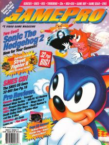 Magazine GamePro - Sonic The Hedgehog 2 V4 #11 (of 12) (1992_11) - Page 1