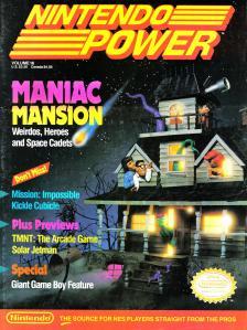 Magazine Nintendo Power - Maniac Mansion V3 #2 (of 6) (_9) - Page 1