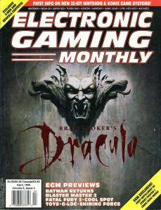 Magazine Electronic Gaming Monthly - Bram Stoker's Dracula V6 #4 (of 12) (1993_4) - Page 1
