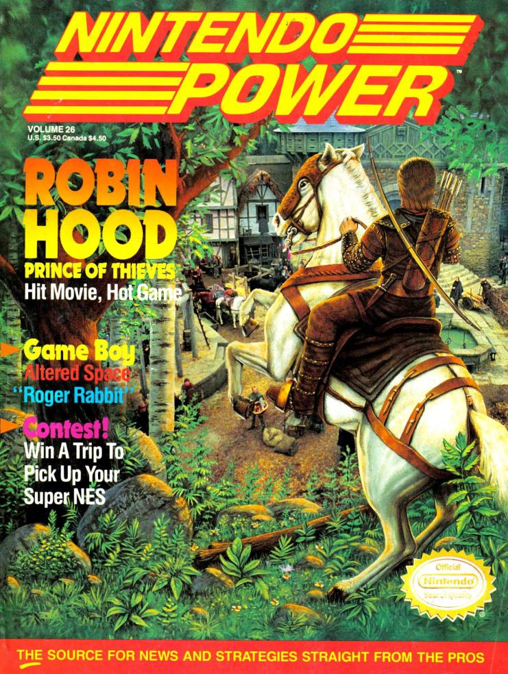 The Cover for Issue #26 of Nntendo Power