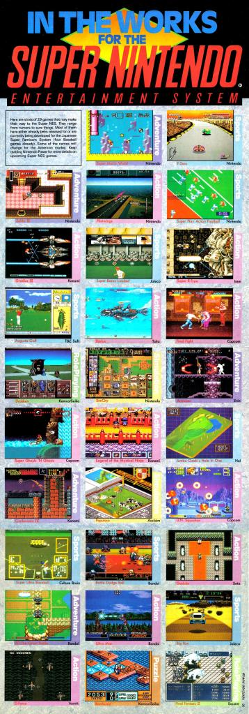 A gallary of 26 upcoming titles for the SNES