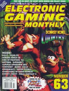 The cover for EGM #63