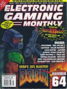 The Cover of EGm #64, featuring Doom