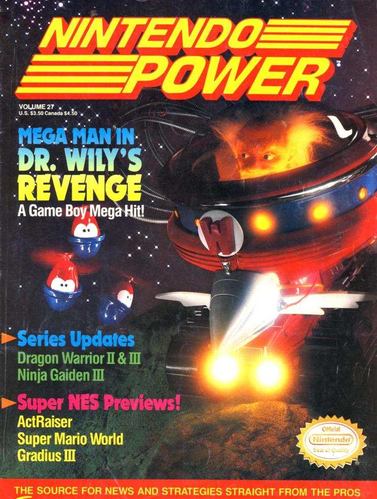 Nintendo Power Issue #27 Cover