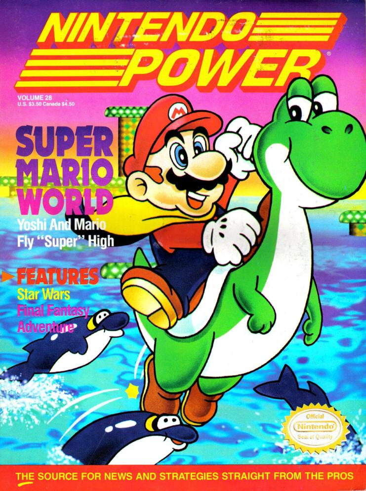 The Cover for Nintendo Power #28