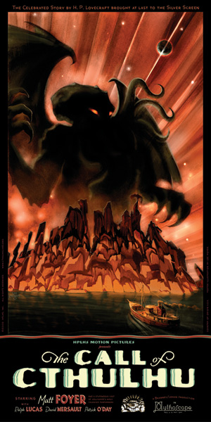 """The movie poster for HPLHS's adaptation of """"Call of Cthulhu"""""""