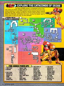 A General map of Metroid 2
