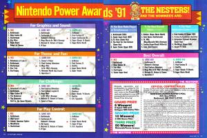 The Ballot for the 1991 Nintendo Power Awards
