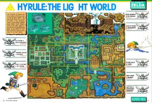Map of the Light World from Link to the Past