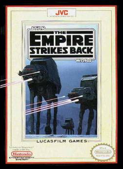 Box Art for Star Wrars: The Empire Strikes Back for the NES