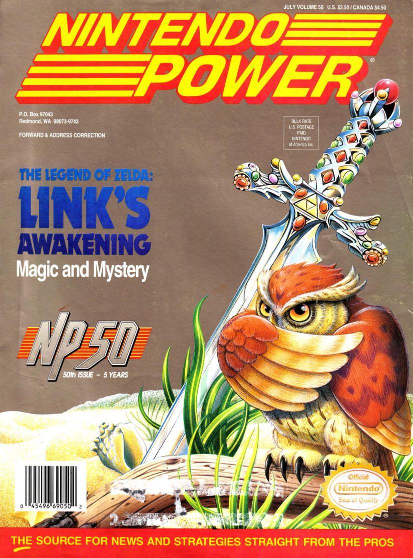 Magazine Nintendo Power V6 #7 (of 12) - Legend of Zelda_ Link's Awakening (1993_7) - Page 1