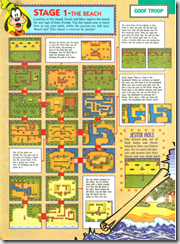 A complete map of the first level of Goof Troop