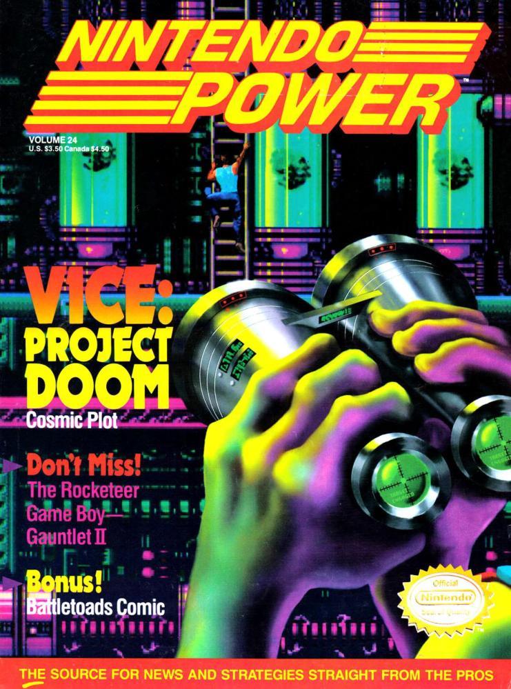 Nintendo Power #24 Cover