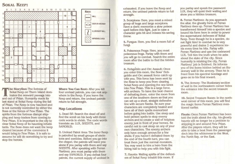 Map of Sokal Keep - from the Clue Book